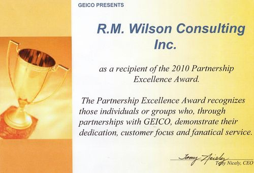 GEICO Partner Award for 2010